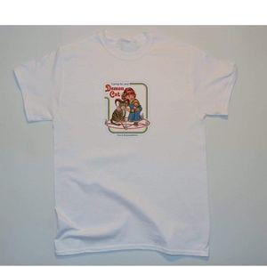 Vintage taking care of your demon cat t-shirt